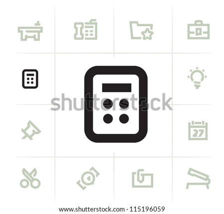 Business Office Items - stock vector