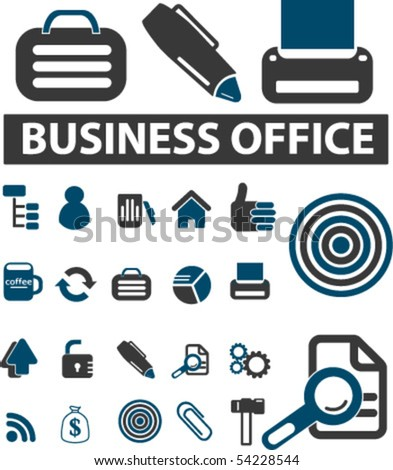 business office signs. vector