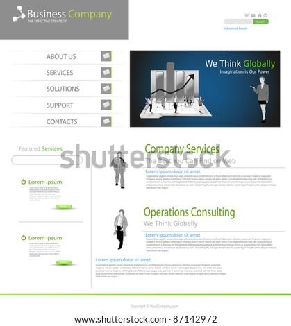Business office website concept - stock vector