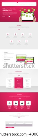 Business One page website design template.