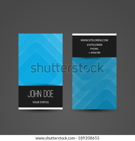 Business or Gift Card with Abstract Striped Pattern - stock vector