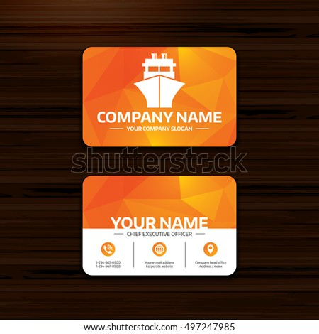 business card sea stock images royalty free images vectors