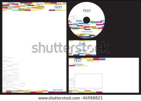 Business package business card letterhead envelope stock photo business package with business card letterhead envelope and cd reheart Images