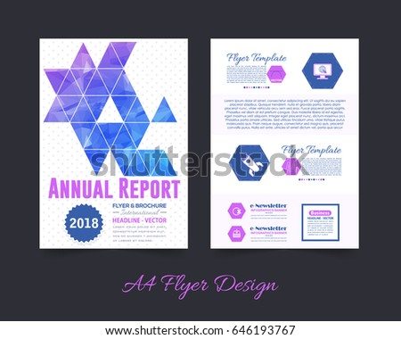 Business pamphlet low poly booklet template stock vector 646193767 business pamphlet or low poly booklet template a4 document and vector background flyer polygonal wajeb Image collections