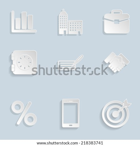 Business Paper Icons Set Vol 2 - stock vector