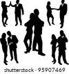 business partners - stock vector