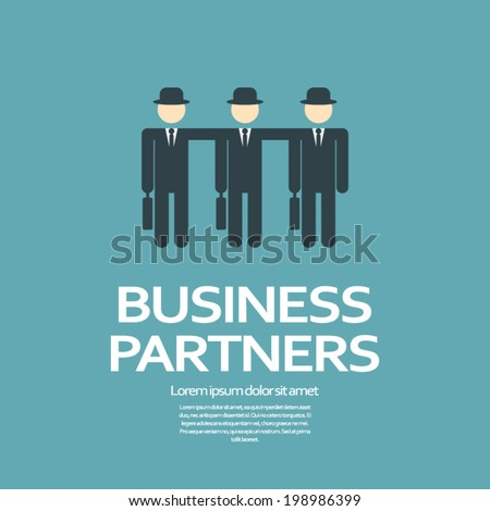 Business partners or team concept illustration. Eps10 vector illustration - stock vector