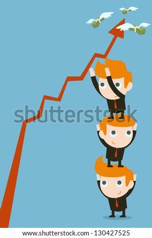 Business partners, teamwork concept - stock vector