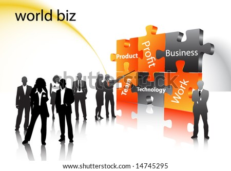 Business people - stock vector