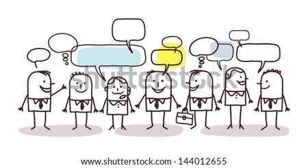 business people and social network - stock vector