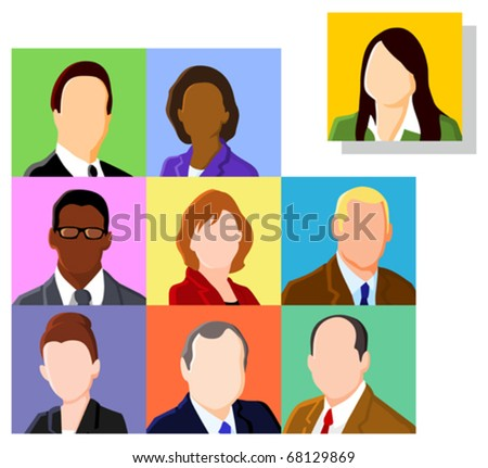 Business people avatar set - stock vector