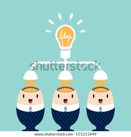 Business people brainstorming for Best Idea - stock vector