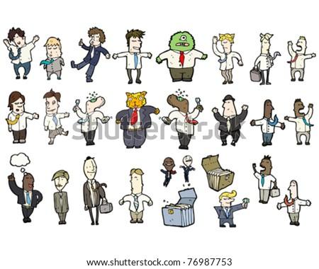 business people cartoon - stock vector