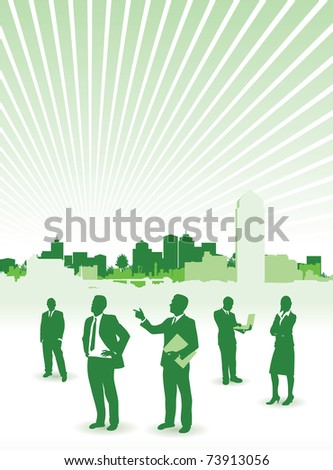 business people city background