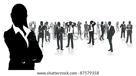 business people group - stock vector
