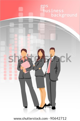 business people group background - stock vector