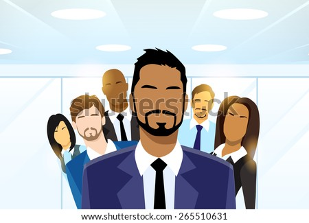 Business People Group Leader Diverse Team Vector Illustration