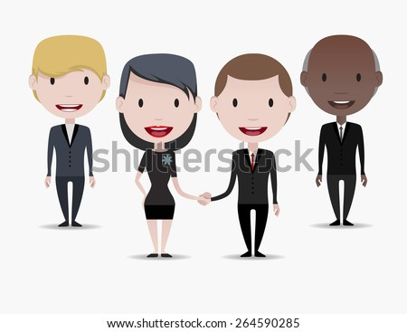 Business people: Handshake - stock vector