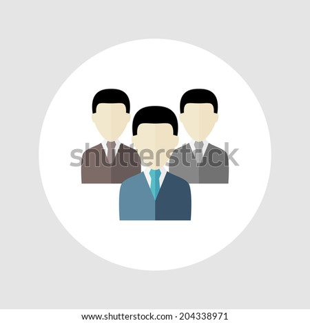 Business people icon. Vector illustration. Flat icon for web and mobile app