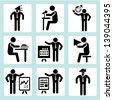 business people icons, business management icon and human resource icon set - stock vector