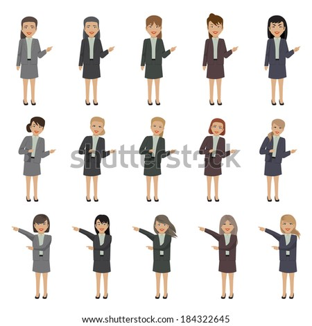 Business People - Isolated On White Background - Vector Illustration, Graphic Design Editable For Your Design  - stock vector