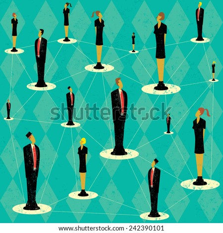 Business People Network - stock vector