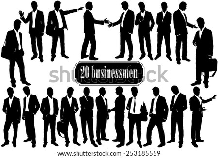 Business people set, vector illustration - stock vector