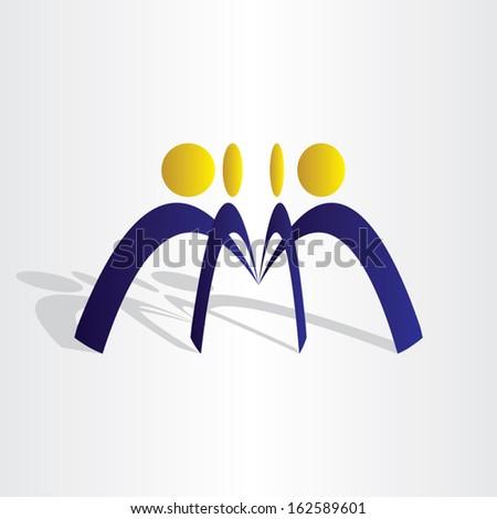 business people team work - stock vector