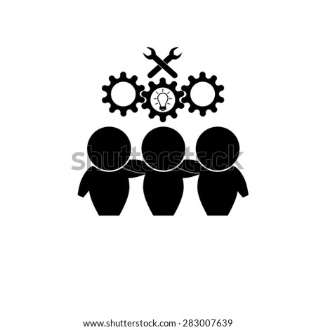 Business People Teamwork Icon - stock vector