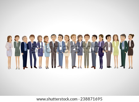 Business People Thinking - Isolated On Gray Background - Vector Illustration, Graphic Design Editable For Your Design. Business Concept  - stock vector
