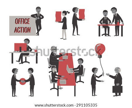 business people , various characters, actions and activities. - stock vector