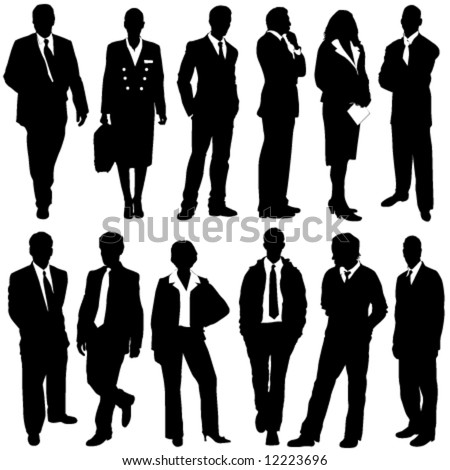 business people vector - stock vector
