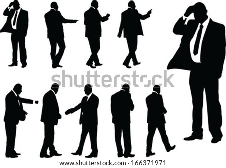 business people - vector - stock vector