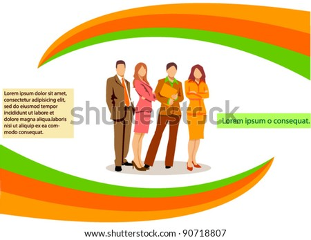 Business people, vector background - stock vector