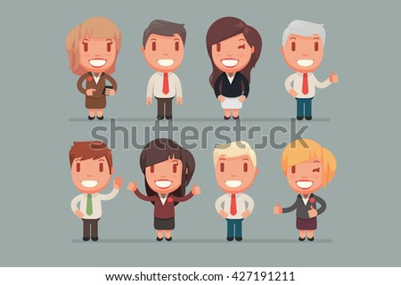 Business people vector set