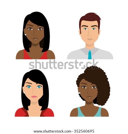 Business people working graphic design, vector illustration eps10