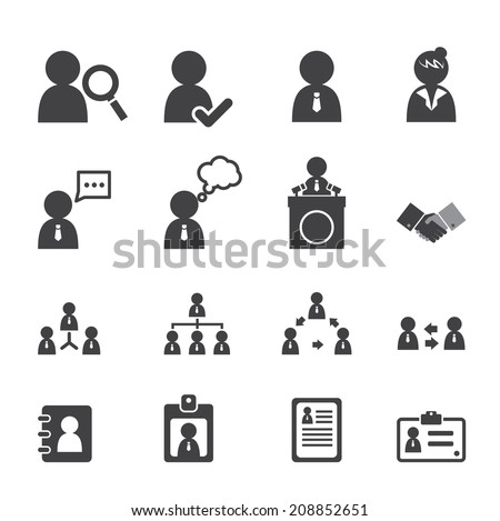 business persons and users icon - stock vector