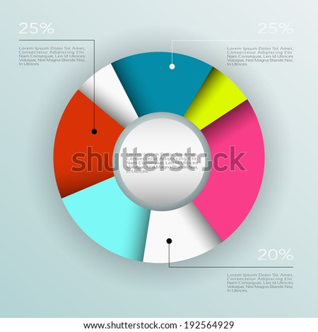 Business pie chart , Infographics circle graph Vector illustration. - stock vector