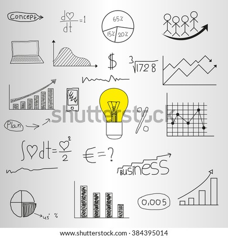 Business Plan Mobile Technologies Conceptual Doodle Stock Vector