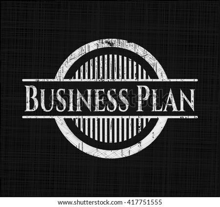 Business Plan chalkboard emblem - stock vector