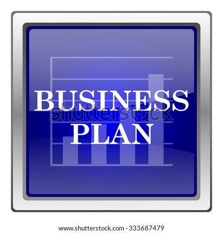 Business plan icon. Internet button on white background. EPS10 vector.