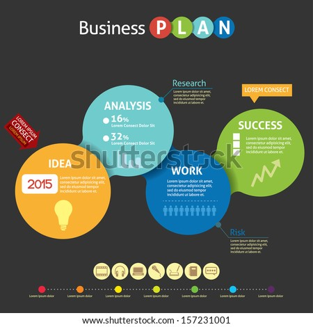 Business plan infographic - stock vector