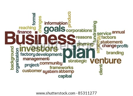 Business plan word cloud - stock vector