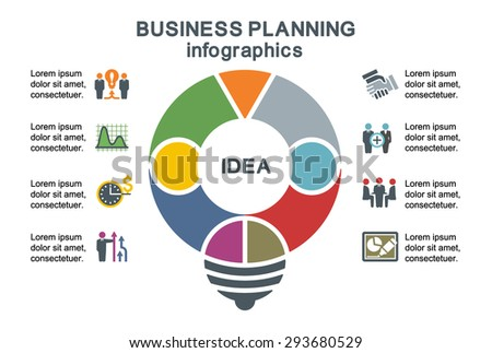 Business planning. Template for infographics. - stock vector