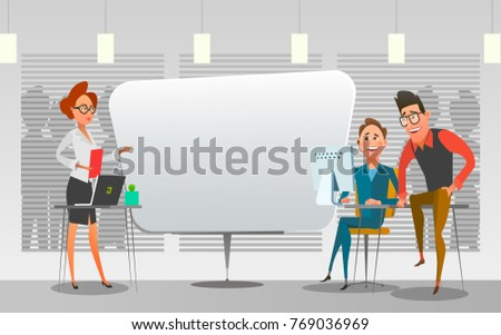 business presentation office stock illustration 769178533, Powerpoint templates