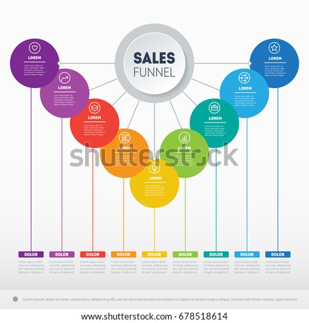 Business Presentation Concept 9 Options Web Stock Vector 678518614 ...