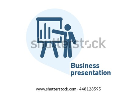 Business presentation icon - stock vector