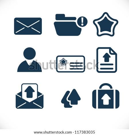 business presentation icons set - stock vector