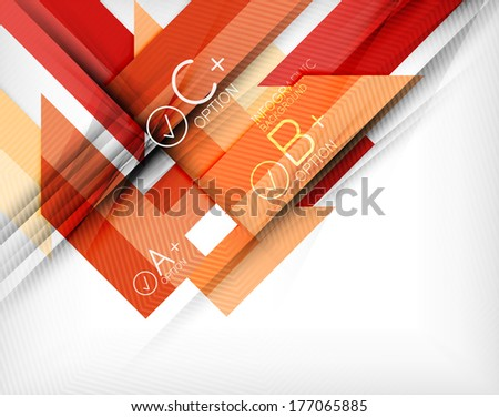 Business presentation stripes abstract background. For infographics, business backgrounds, technology templates, business cards - stock vector