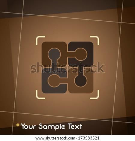 Business presentation template - stock vector